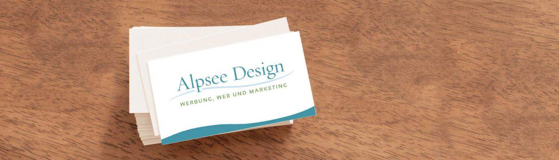 Visitenkarten Co Grafikdesign Von Alpsee Design Im Allgäu