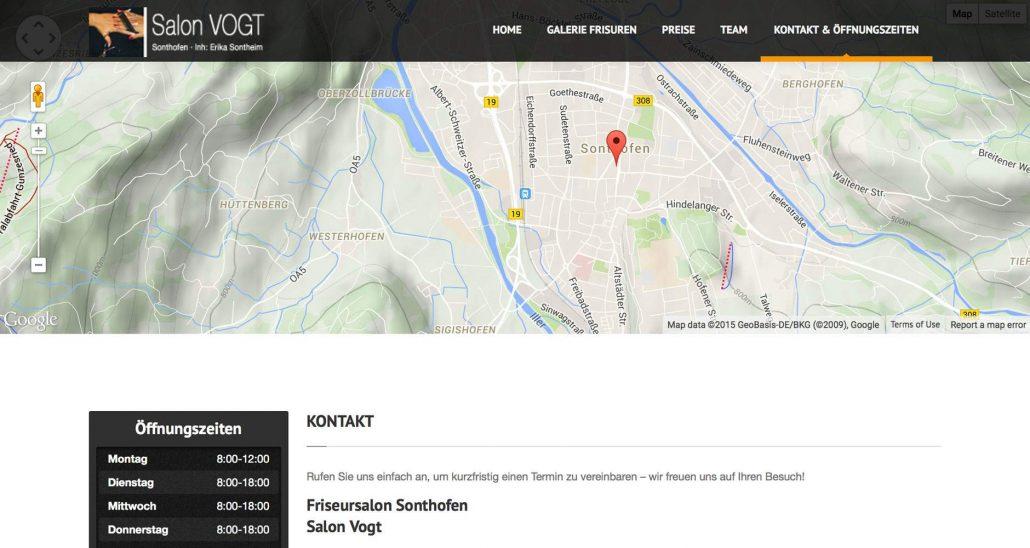 Webdesign Sonthofen Friseur