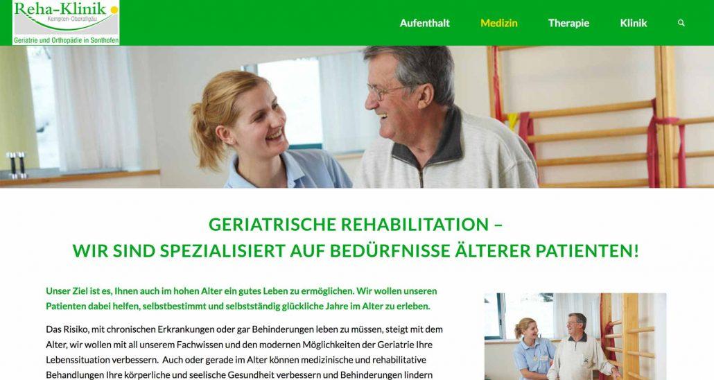 Webdesign Klinik