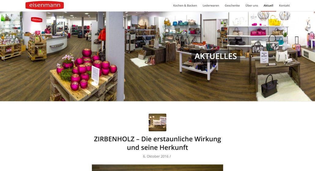 Webdesign Einzelhandel Website einrichten